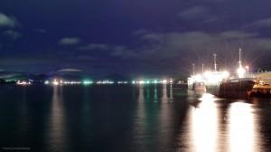 10月13日の下松港 台風から退避した多くの船舶