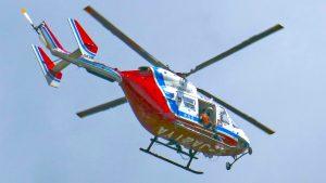 山口県の防災ヘリJA21YA
